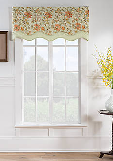 Waverly® Felicite Persimmon Wave Window Valance