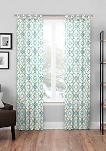 Window Curtains Amp Drapes White Gold Floral Amp More Belk