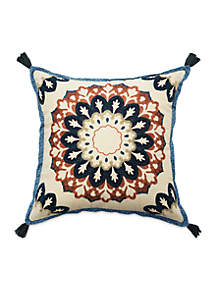 Castleford Embroidered Tassel Decorative Pillow