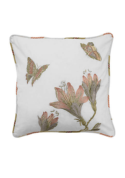 Laurel Springs Embroidered Decorative Pillow