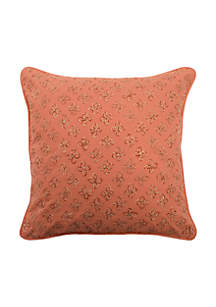 Laurel Springs Applique Decorative Pillow