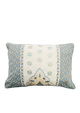 Castille Embroidered Decorative Pillow