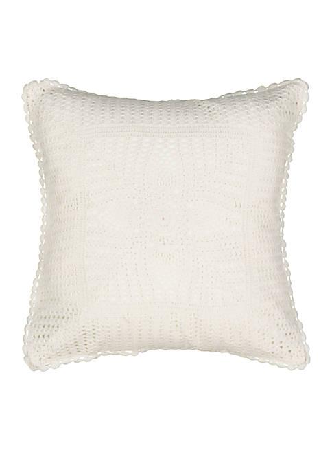 Emmas Garden Crochet Pillow