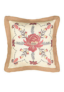 Exotic Curiosity Embroidered Throw Pillow