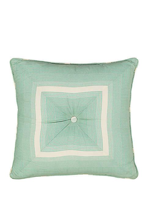 Paisley Verveine Tufted Throw Pillow