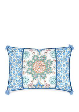 Incense Wheel Oblong Throw Pillow