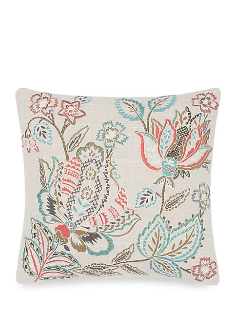 Brompton Embroidered Decorative Accessory Pillow
