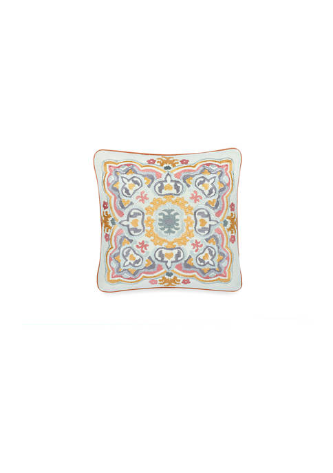 Waverly® Artisanal 18 Inch Embroidered Decorative Pillow