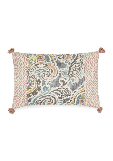 Artisanal Oblong Pieced Reversible Decorative Accessory Pillow