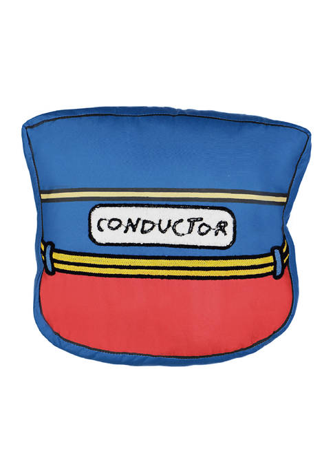 Waverly® Kids All Aboard Conductor Hat Decorative Pillow