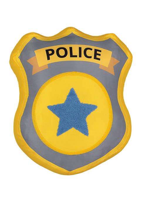 Kids Hero Squad Police Badge Decorative Pillow