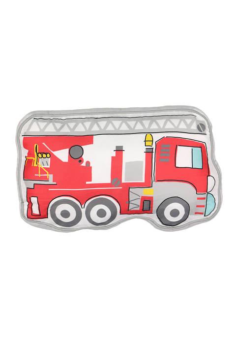 Kids Hero Squad Fire Truck Decorative Pillow