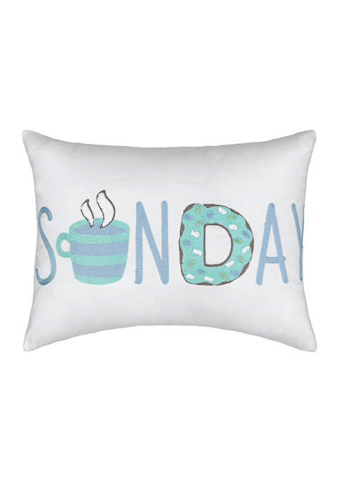 Spree Lights Out Sunday Decorative Pillow