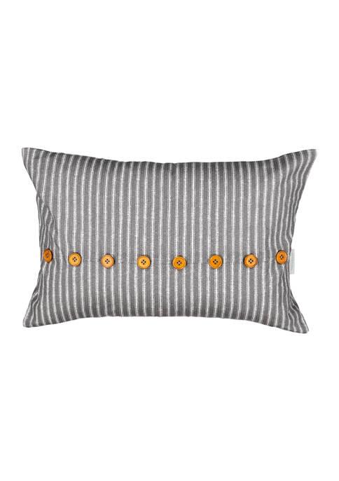 Stencil Vine Rectangular 14x22 Decorative Pillow