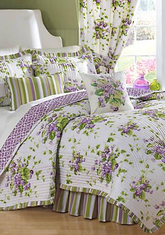 Waverly 174 Sweet Violets Quilt Set Collection Belk
