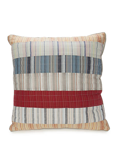 Home Accents® Jackson Striped Cotton Quilted Decorative Pillow