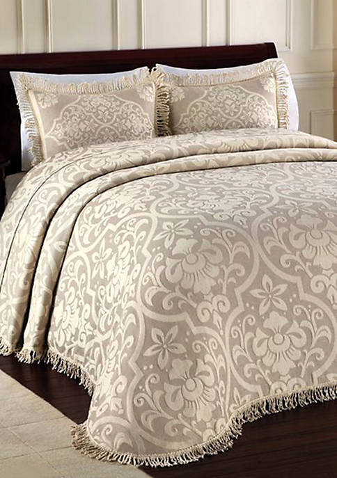 Allover Brocade  Full Bedspread 96-in. x 110-in.