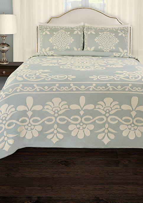 Lamont Home 174 Annabella Blue King Bedspread 120 In X 120
