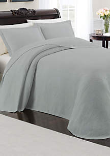 Cambridge Manor Blue Queen Bedspread