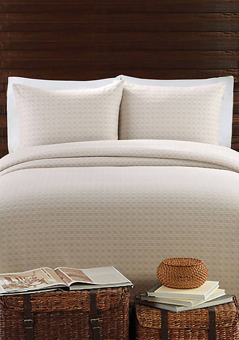 Lamont Home 174 Lanai Taupe Twin Coverlet 68 In X 96 In