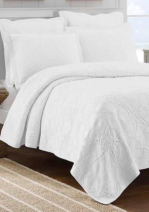 Lamont Home® Calypso White Full/Queen Coverlet