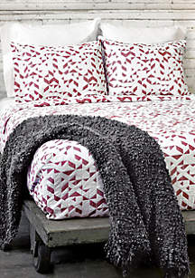 Kinetic Full/Queen Coverlet Red/White
