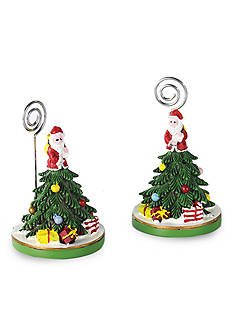 Spode Christmas Tree Two Pack Placecard Holders