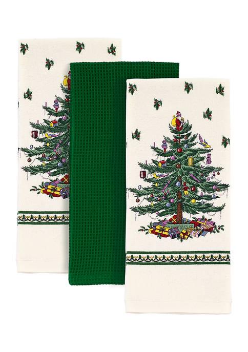 Avanti Spode Christmas Tree Kitchen Towels