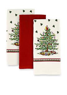 Christmas Tree Set of 3 Kitchen Towel