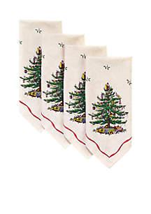 Christmas Tree Set of 4 Napkins
