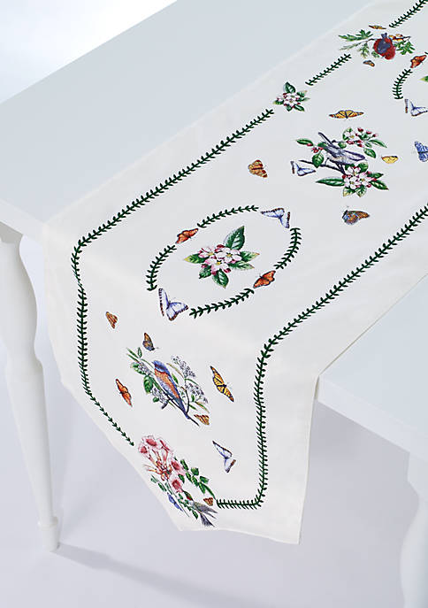 Avanti Botanic Garden Birds Table Runner 14-in. x