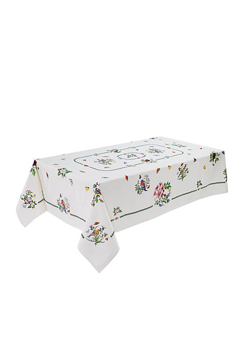 Avanti Botanic Garden Birds Table Cloth 60-in. x