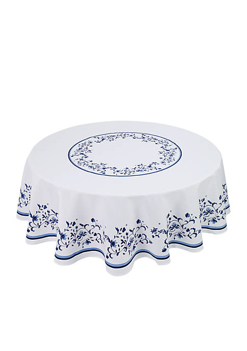 Avanti Blue Portofino Round Table Cloth