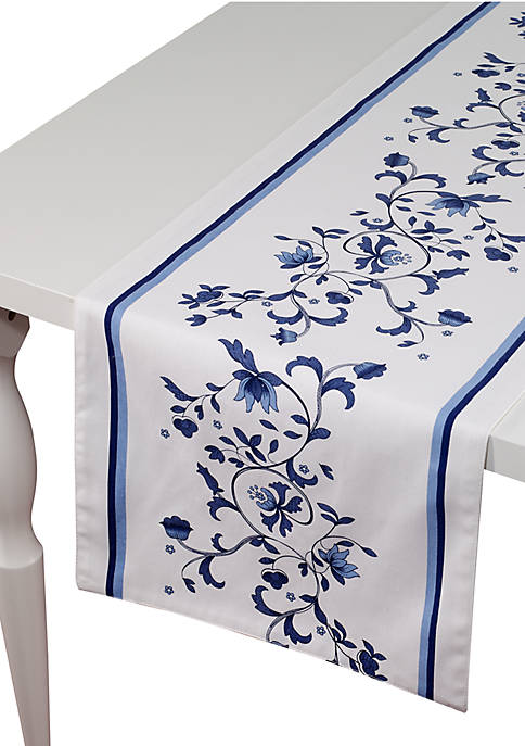Avanti Blue Portofino Table Runner 14-in. x 90-in.