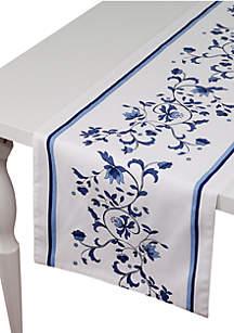 Blue Portofino Table Runner 14-in. x 90-in.