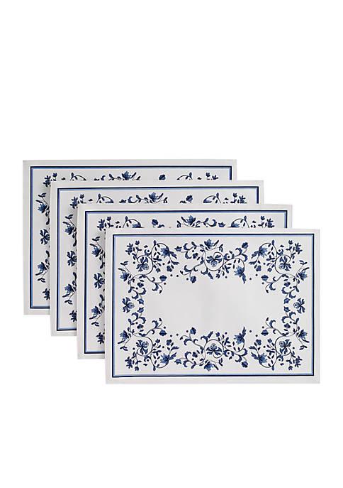 Blue Portofino 4 Piece Placemats