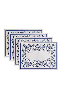 Blue Portofino 4 Piece Placemats