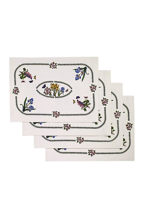 Botanic Garden 4 piece placemat set