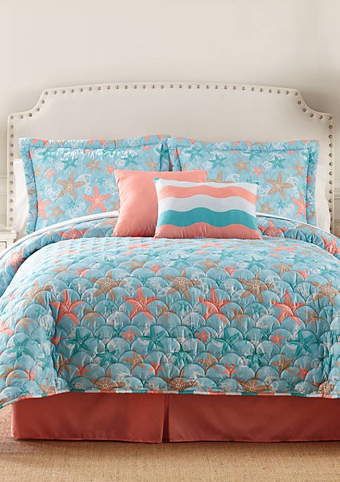 Home Accents 174 Sea Life 6 Piece Bed In A Bag Belk