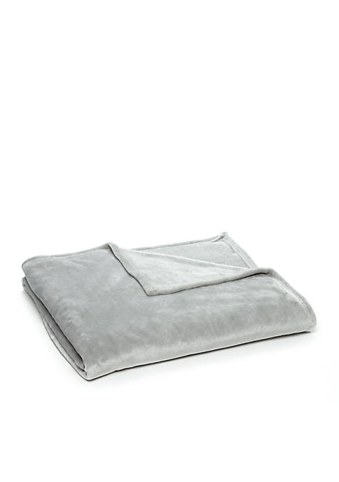 Home Accents® Solid Plush Blanket