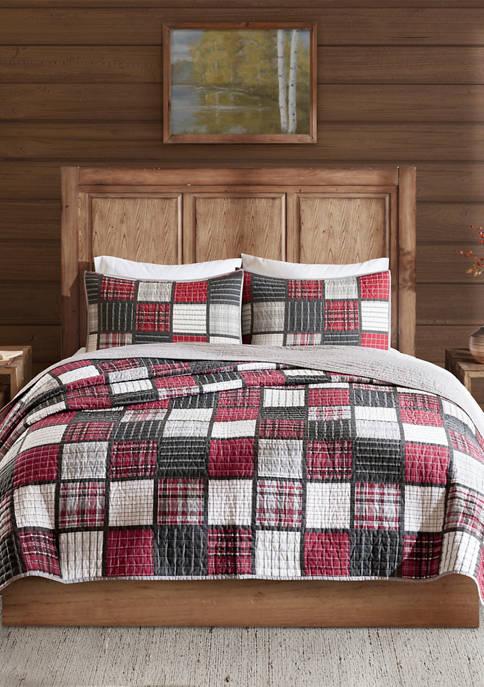 Tulsa Oversized Plaid Print Cotton Quilt Set