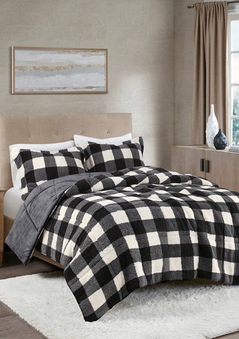 Brooks Print Sherpa Down Alternative Comforter Set