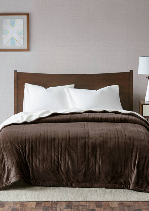 Ultra Soft Plush Reverses to Berber Heated Blanket with Bonus Automatic Timer