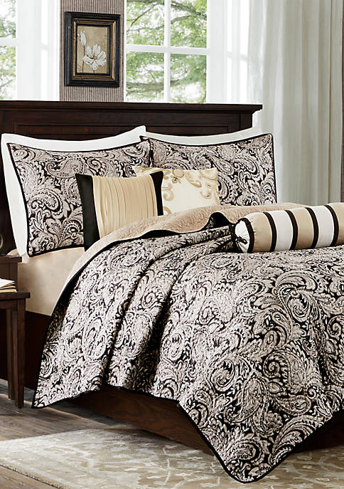 Aubrey 6 Piece Quilted Coverlet Set