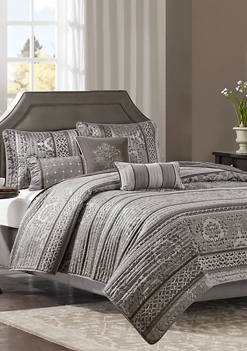 Madison Park Bellagio 6-Piece Coverlet Set Brown