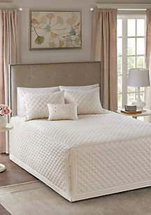 Breanna 4-Piece Tailored Bedspread Set - Ivory