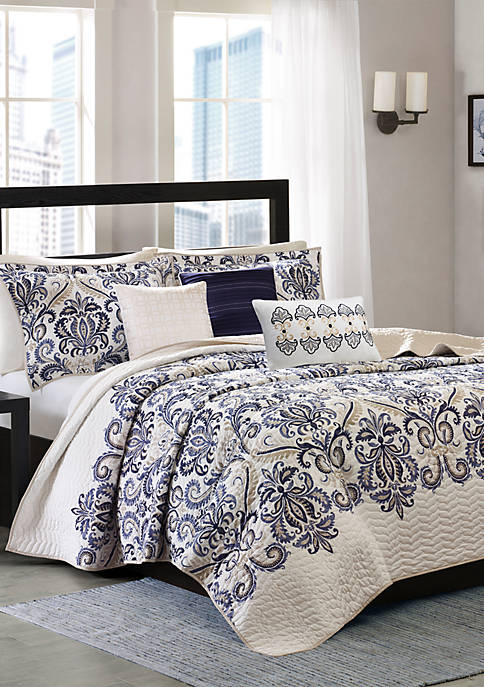 Cali 6-Piece Quilted Coverlet Set
