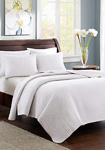 Madison Park Keaton White Coverlet Set