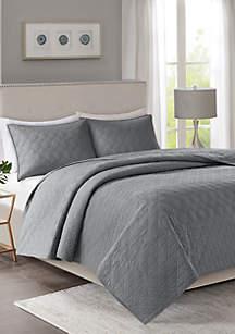 Linnette 3-Piece Coverlet Set - Grey