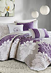 Lola 6-Piece Quilted Purple Coverlet Set